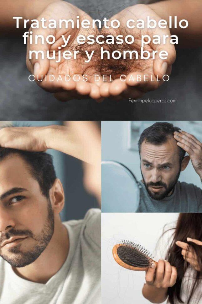 Tratamiento cabello fino y escaso para mujer y hombre