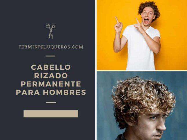 cabello rizado permanente para hombres